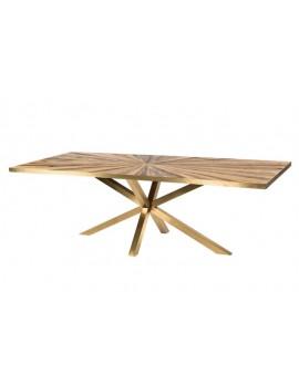 Esstisch Metallgestell Gold, Tisch Gold Gestell Metall, Länge  240 cm