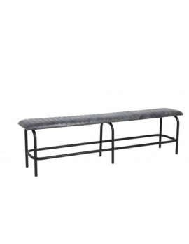 Bank grau Industriedesign, Sitzbank grau Industrie, Länge 180 cm