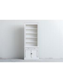 Bücherschrank weiß Landhausstil, Schrank weiß Landhaus, Bücherschrank Landhaus in fünf Farben, Breite 100 cm