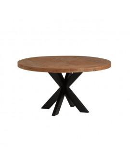 Runder Tisch Landhaus, Esstisch rund Metall Gestell Landhaus, Tisch rund, Durchmesser 140 cm