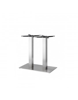 Bistrotischgestell Edelstahl, Tischgestell Edelstahl, Metall Tischsäule Edelstahl , Höhe 73 cm