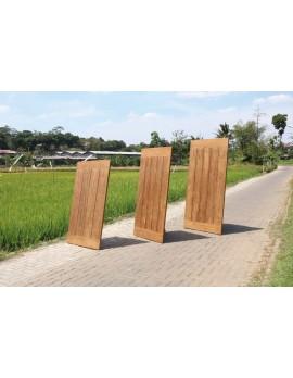 Tischplatte Teakholz, Garten-Tischplatte Teak, Breite 200 cm