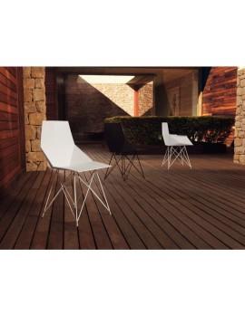 Stuhl weiß Design, Stuhl Kunststoff Metall weiß
