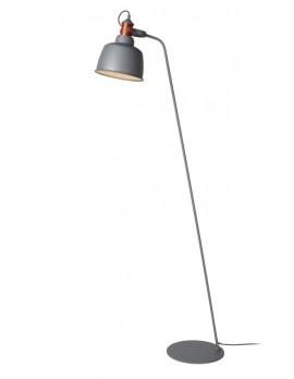 Stehleuchte grau Metall, Stehlampe grau