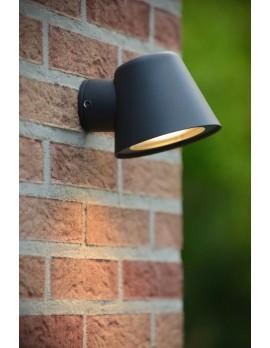 LED Wandleuchte, LED Wand-Außenleuchte schwarz, Außenlampe schwarz