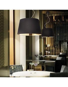 Pendelleuchte schwarz-Gold, Pendellampe schwarz, Hängeleuchte schwarz-Gold, Durchmesser 60 cm