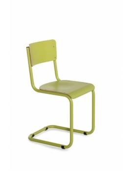 Objekt Stuhl grün, Stuhl in fünf Farben, Freischwinger grün