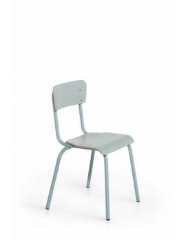 Objekt Stuhl blau, Stuhl blau in fünf Farben