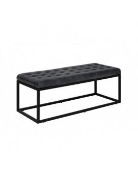 Bank schwarz Industriedesign, Sitzbank Industrie schwarz, Breite 123 cm