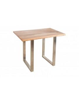 Bartisch Massivholz,  Stehtisch Metall Tischbeine,  Höhe 105 cm