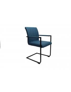 Design Stuhl in petrol schwarz Retro Look
