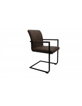 Design Stuhl in taupe schwarz Retro Look