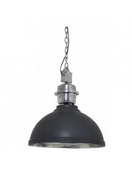 Pendelleuchte schwarz Industrie-Lampe, Hängelampe schwarz Industrie, Durchmesser 42 cm