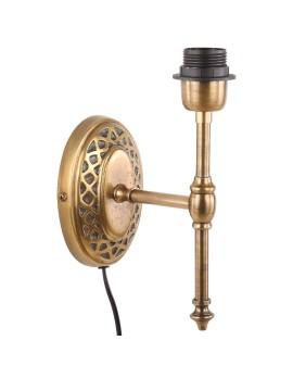 Wandleuchte Bronze, Wandlampe oval für Lampenschirme