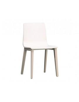 Natural Stuhl Massivholz, leinen gebleichte Buche