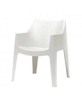 Gartensessel weiß, Gartenstuhl weiß Kunststoff, Stuhl weiß stapelbar