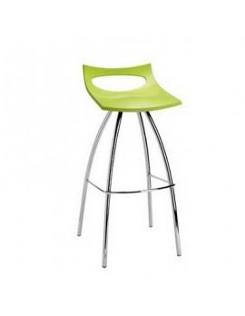 Barhocker grün, Sitzhöhe 65 cm, Beine verchromt