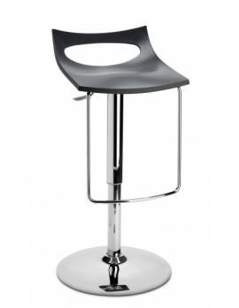 Barstuhl, anthrazit, Sitzhöhe variabel 54-79 cm, chrom Drehbar U-Form