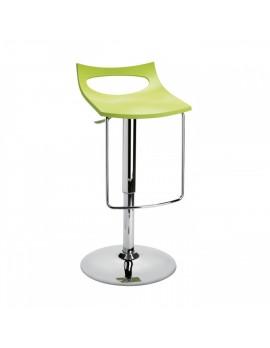 Barstuhl, grün, Sitzhöhe variabel 54-79 cm, chrom Drehbar U-Form