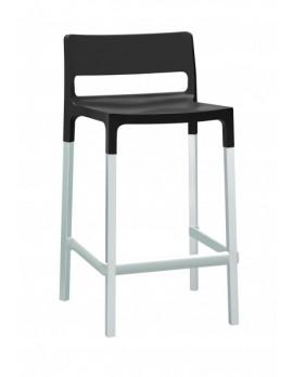 Design Barstuhl, anthrazit, Sitzhöhe 75 cm, Outdoor