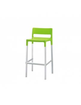 Design Barstuhl, grün, Sitzhöhe 75 cm, Outdoor