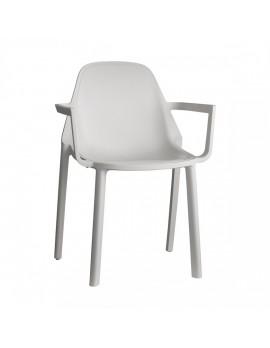 Stuhl leinen, Glasfaser mit Armlehne, Outdoor