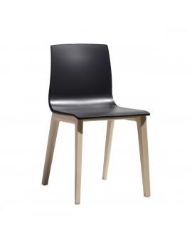 Natural Stuhl Massivholz, anthrazit gebleichte Buche