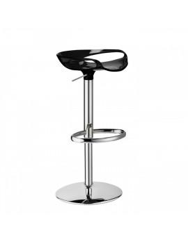 Barhocker, schwarz, variabel Sitzhöhe 55-79 cm, chrom