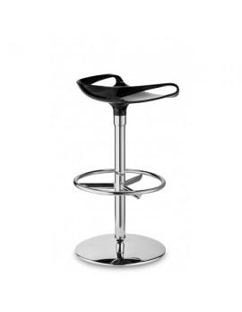 Barhocker, schwarz, Sitzhöhe 75 cm, chrom