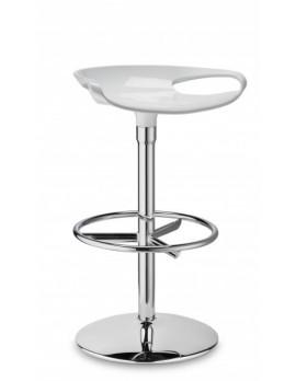 Barhocker, weiß, Sitzhöhe 75 cm, chrom