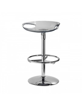 Barhocker, transparent, Sitzhöhe 75 cm, chrom