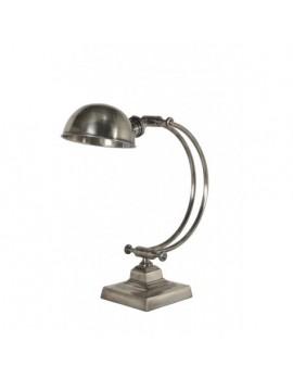 Tischleuchte Antiksilber Tischlampe Silber im Landhausstil