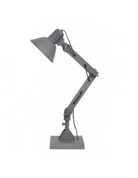 Industrie Tischlampe Metall, Tischleuchte Industriedesign grau Metall