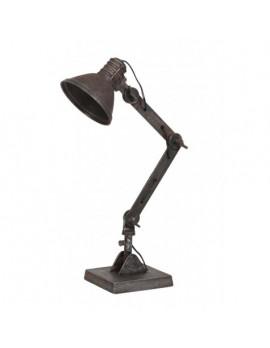 Industrie Tischlampe Metall, Tischleuchte Industriedesign braun Metall