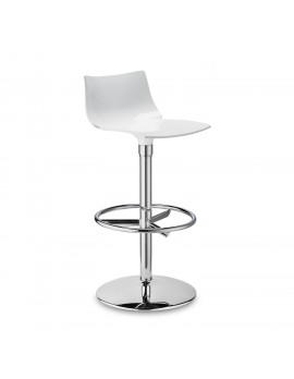 Barstuhl, weiß, Sitzhöhe 75 cm, chrom
