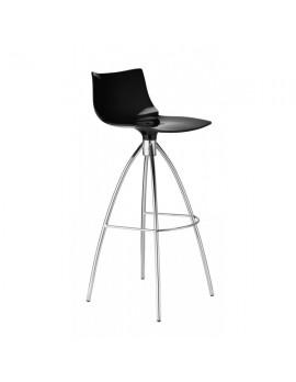 Barstuhl schwarz, Sitzhöhe 65 cm, Beine verchromt