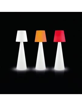 Stehleuchte aus Kunststoff, Outdoor Stehlampe mit Lampenschirm in verschiedenen Farben, Höhe 210 cm