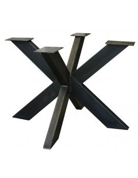 Tischgestell grau Metall Industriedesign, Tischgestell Industrie Metall, Breite 110 cm