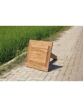 Tischplatte Teakholz, Garten-Tischplatte Teak, Maße 60x60 cm