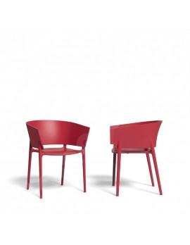 Stuhl rot aus Kunststoff, Gartenstuhl rot