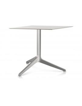 Tischfuß Silber, Bistrotisch-Gestell weiß, Tischgestell weiß